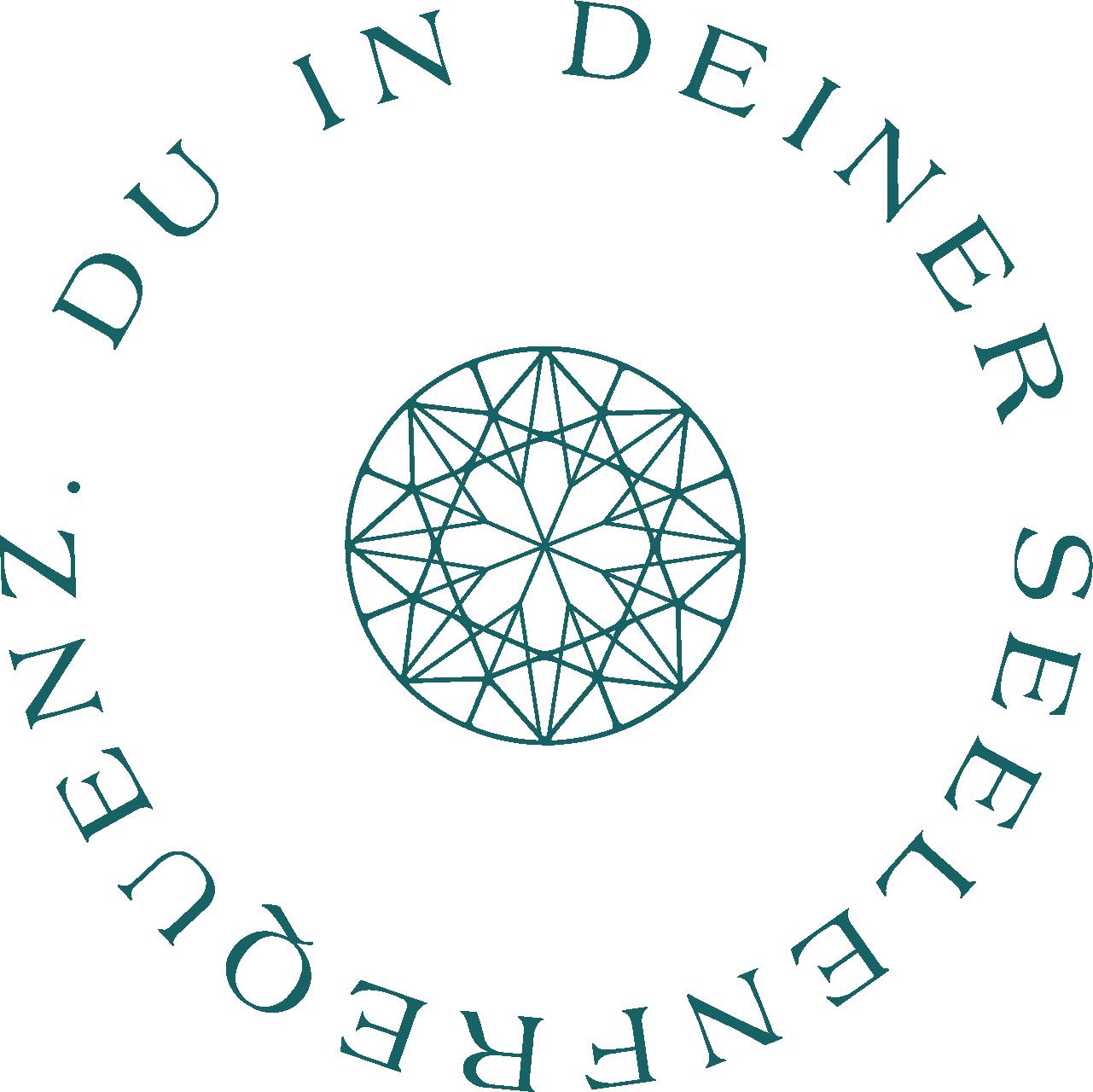 Diamond Coaching Rundsiegel - Du in deiner Seelenfrequenz - petrol